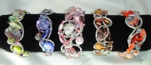 Large wire – wrap  Bracelets